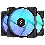Fractal Design  Aspect 12 RGB PWM - Pack de 3 - Noir