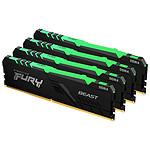 Kingston Fury Beast RGB - 4 x 16 Go (64 Go) - DDR4 3000 MHz - CL15