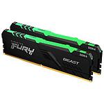 Kingston Fury Beast RGB - 2 x 32 Go (64 Go) - DDR4 3200 MHz - CL16