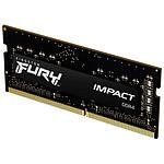 Kingston Fury Impact SO-DIMM - 1 x 16 Go (16 Go) - DDR4 2666 MHz - CL15