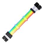 Abkoncore ASC16P Câble d'alimentation PSU 8 (6+2) pin vers 8 (6+2) pin - ARGB
