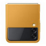 Samsung Coque Cuir Moutarde Galaxy Z Flip 3