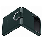 Samsung Coque Silicone Anneau Vert Galaxy Z Flip 3