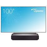 ViewSonic X1000-4K - DLP 4K UHD - 2400 Lumens + cadre Optoma ALR101 254 cm