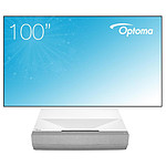 Optoma CinemaX P2 (Blanc) - Laser 4K UHD - 3000 Lumens + cadre Optoma ALR101 254 cm