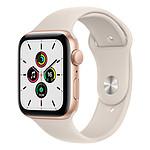 Apple Watch SE Aluminium (Or - Bracelet Sport Lumière Stellaire) - GPS - 44 mm