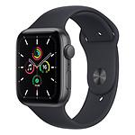 Apple Watch SE Aluminium (Gris sidéral - Bracelet Sport Sport Minuit) - GPS - 44 mm