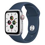 Apple Watch SE Aluminium (Argent - Bracelet Sport Bleu Abysse) - Cellular - 40 mm