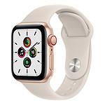 Apple Watch SE Aluminium (Or - Bracelet Sport Lumière Stellaire) - Cellular - 40 mm