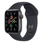 Apple Watch SE Aluminium (Gris sidéral - Bracelet Sport Minuit) - Cellular - 40 mm