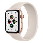 Apple Watch SE Aluminium (Or - Bracelet Sport Lumière Stellaire) - Cellular - 44 mm