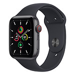 Apple Watch SE Aluminium (Gris sidéral - Bracelet Sport Minuit) - Cellular - 44 mm