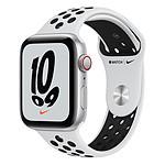 Apple Watch Nike SE Aluminium (Argent - Bracelet Sport Platine pur / Noir) - Cellular - 44 mm