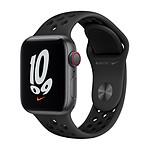 Apple Watch Nike SE Aluminium (Gris sidéral - Bracelet Sport Anthracite / Noir) - Cellular - 40 mm
