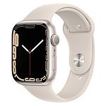 Apple Watch Series 7 Aluminium (Lumière stellaire - Bracelet Sport Lumière stellaire) - GPS - 45 mm