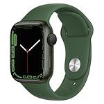 Apple Watch Series 7 Aluminium (Vert - Bracelet Sport Vert) - GPS - 41 mm