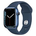 Apple Watch Series 7 Aluminium (Bleu - Bracelet Sport Bleu) - GPS - 41 mm