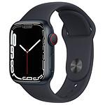 Apple Watch Series 7 Aluminium (Minuit - Bracelet Sport Minuit) - Cellular - 41 mm