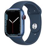 Apple Watch Series 7 Aluminium (Bleu- Bracelet Sport Bleu) - Cellular - 45 mm