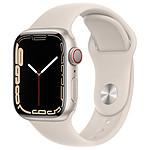 Apple Watch Series 7 Aluminium (Lumière stellaire- Bracelet Sport Lumière stellaire) - Cellular - 41 mm