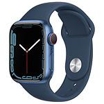 Apple Watch Series 7 Aluminium (Bleu - Bracelet Sport Bleu) - Cellular - 41 mm