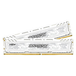 Ballistix Sport LT White DDR4 2 x 8 Go 2666 MHz CAS 16 DR