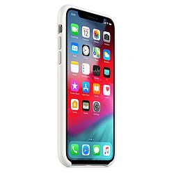 Apple Coque silicone (blanc) - iPhone XS