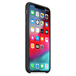 Apple Coque silicone (noir) - iPhone XS Max