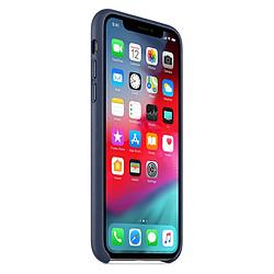 Apple Coque Leather Case iPhone XS (bleu nuit)