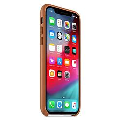 Apple Coque Leather Case iPhone XS (havane)