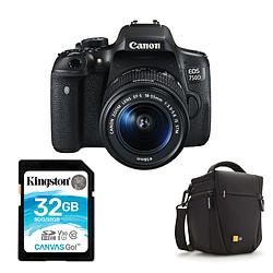 Canon EOS 750D + 18-55 IS STM + Carte SD 32 GO + Sacoche