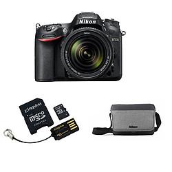 Nikon D7200 + AF-S DX 18-140 VR + Carte microSD Kingston 16 GO + Adaptateur SD et USB + Sacoche CF-EU11