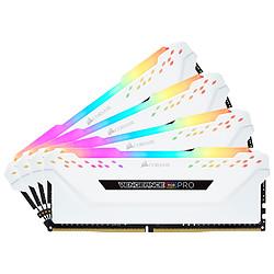 Corsair Vengeance RGB PRO DDR4 4 x 16 Go 3600 MHz CAS 18 Blanche