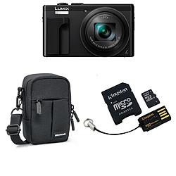 Panasonic Lumix DMC-TZ80 Noir + Kingston Mobility Kit 16 GO + Etui Cullmann Malaga compact 400 Noir