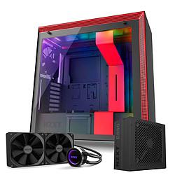 NZXT H700I Noir/rouge + alimentation E850 + KRAKEN X62