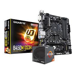 AMD Ryzen 5 2600 + Gigabyte B450M DS3H