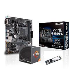 AMD Ryzen 5 2600 + Asus Prime B450M-K + Kingston A1000 240 Go