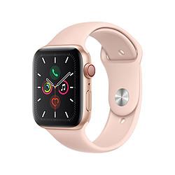 Apple Watch Series 5 Aluminium (Or- Bracelet Sport Rose des Sables) - Cellular - 44 mm