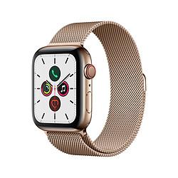 Apple Watch Series 5 Acier (Or- Bracelet Milanais Or) - Cellular - 44 mm