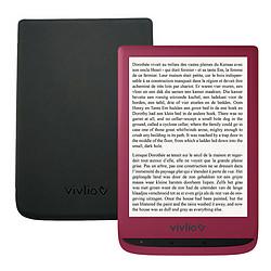 Vivlio Touch Lux 4 (rouge) + Vivlio Housse cuir (noir)