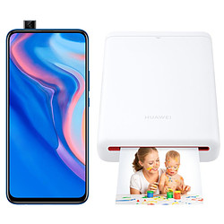 Huawei P Smart Z Bleu - 64 Go + Imprimante de Poche Huawei CV80 offerte