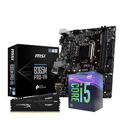 Intel i5 9400F - MSI B365 - RAM 16Go 2666Mhz