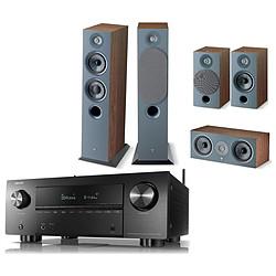 Denon AVC-X3700H Noir + Focal Pack d'enceintes Chora 816 HCM 5.0 Dark Wood