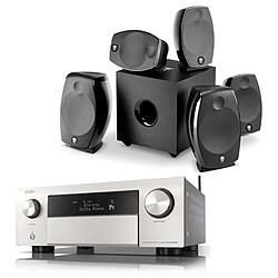 Denon AVR-X4700H Argent + Focal Sib Evo 5.1.2 Dolby Atmos Noir
