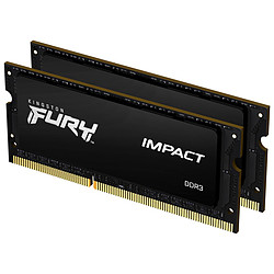 Kingston Fury Impact SO-DIMM - 2 x 8 Go (16 Go) - DDR3 1600 MHz - CL9