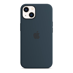 Apple Coque en silicone avec MagSafe pour iPhone 13 Mini - Bleu abysse