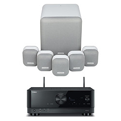 Yamaha RX-V4A Noir + Monitor Audio MASS 5.1 Blanc