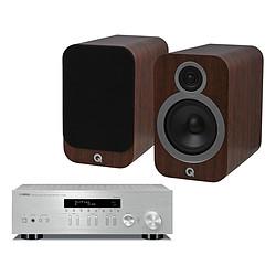 Yamaha MusicCast R-N303 Argent + Q Acoustics 3030i Noyer
