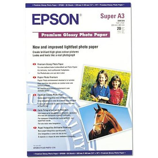Papier imprimante Epson Papier photo premium glacé A3+ - C13S041316