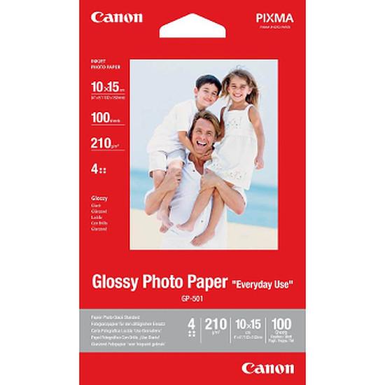 Papier imprimante Canon Papier photo 10x15 - GP-501